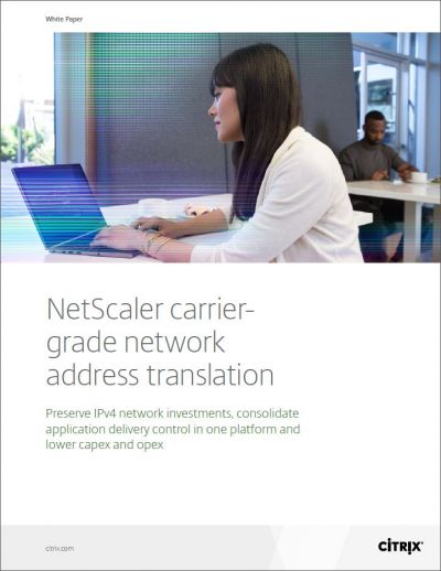 Bescherm uw investering in IPv4 infrastructuur met carrier-grade network address translation (CGNAT)