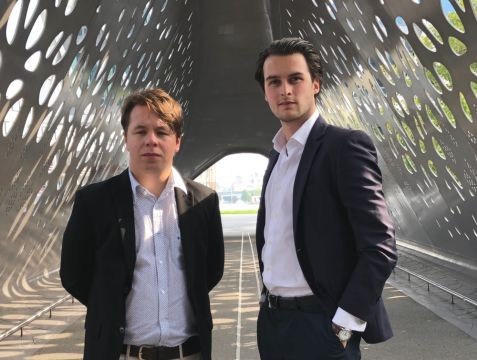 Willem Drijver en Timothy Verhaeghe, co-founders Taglayer
