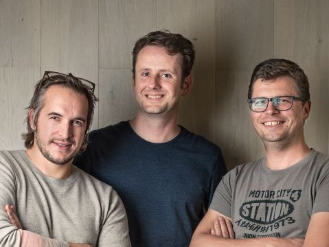 Manual.to co-founders Bart Meyskens (Sales), Jorim Rademaker (CEO) en Tom De Coninck (CTO)